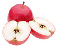Red apples on white. Background Royalty Free Stock Photos