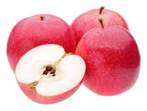 Red apples on white. Background Royalty Free Stock Photography