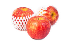 Red apples on white backbround Royalty Free Stock Photo