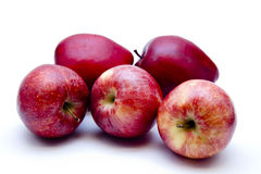 Red apples. On white background Royalty Free Stock Image