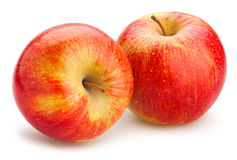 Red apples. On white background Stock Images