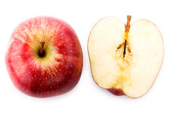 Red apples on a white background Stock Photography