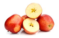Red apples on white background Stock Image