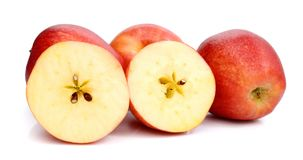 Red apples on white background Royalty Free Stock Images