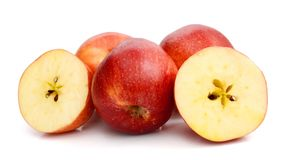 Red apples on white background Royalty Free Stock Photos
