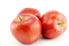 Red apples on white background Stock Photos