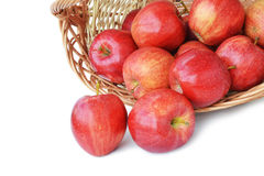Red apples on white Royalty Free Stock Image