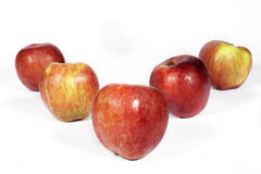 Red apples on white Stock Image