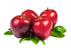 Free Red Apples With Leaves Isolated On White Background Stock Photography - 70758322