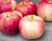 Red apples. On a wooden Royalty Free Stock Photography