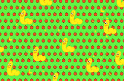 Red apples and worms background Royalty Free Stock Photos