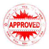 Red Approval Stamp. A red approval ink stamp stock illustration