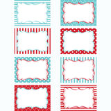 Red and Aqua Printable Labels Set.Tags,Photo Frame, Gift Tags, Scrapbooking,Card Making,Invitation. The vector for Red and Aqua Printable Labels Set.Tags,Photo royalty free illustration
