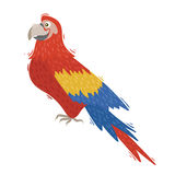 Red ara cartoon parrot Royalty Free Stock Image