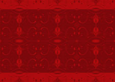 Red arabesque wallpaper Royalty Free Stock Photo