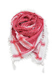Red arabic scarf isolated on white background. The red arabic scarf isolated on white background Stock Images