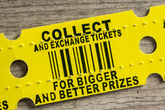 Red arcade prize ticket Royalty Free Stock Photos