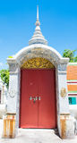 Red arch door in temple Royalty Free Stock Images