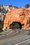 Red Arch Tunnel,Bryce Canyon Stock Photography