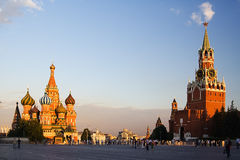 The red area in Moscow. In the evening Royalty Free Stock Photos