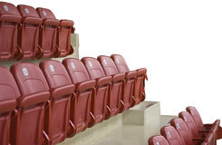 Red Arena Seats Stock Images
