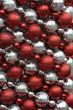 Red and argent ball decoration for Christmas Royalty Free Stock Photography