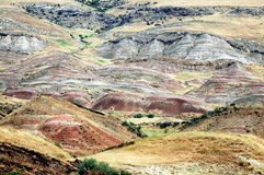 Red arid hills Royalty Free Stock Photo