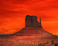 Red Arizona Sunset Stock Photography