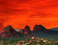 Red Arizona Sunset Stock Photo