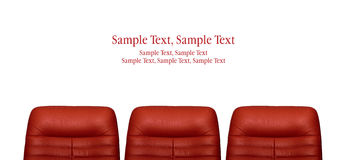 Red arm-chair Royalty Free Stock Photography