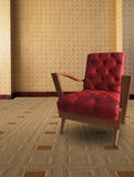 Red arm chair in living room Stock Photography