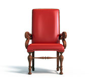 Red armchair. Over white - 3d render Stock Image