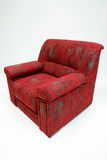 Red armchair. Modernly designed, completely covered by high quality red textile Royalty Free Stock Photo