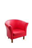 Red armchair Royalty Free Stock Images