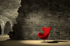 Red armchair Royalty Free Stock Photos