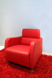 Red armchair Stock Photography