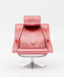 Red armchair. On the white Stock Image