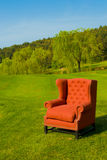 Red armchair Stock Images