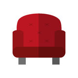 Red armchair icon Royalty Free Stock Images