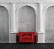 Red Armchair In A Luxury Classic Home Royalty Free Stock Photo