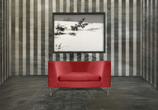 Red Armchair Interior Royalty Free Stock Photo