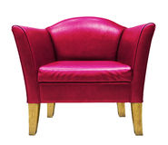 Red armchair isolated Stock Photo