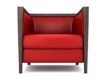Red armchair isolated on white Stock Photography