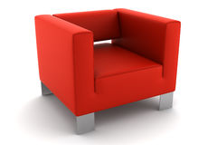 Red armchair isolated on white. Background stock illustration