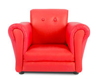 Red armchair. Isolated on white background Royalty Free Stock Images