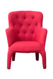 Red armchair isolated on white background Royalty Free Stock Photo