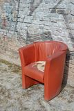 Red Armchair Outdoor Royalty Free Stock Image