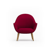 red armchair royalty free stock photography
