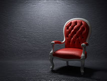 The red armchair stock photos
