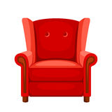 Red armchair. Vector illustration. Stock Photography